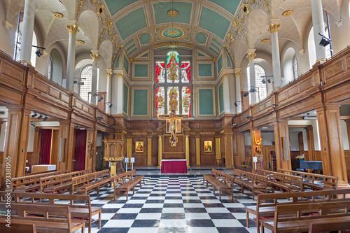 LONDON, GREAT BRITAIN - SEPTEMBER 16, 2017: The nave of church St. Andrew Holborn. © Renáta Sedmáková