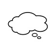 Speech bubble icon, vector illustration. Flat style for graphic and web design