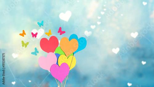 Aluminium Vlinder Herzen und Schmetterlinge