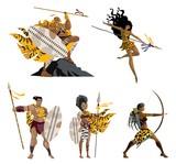 african wild warriors - 193392992