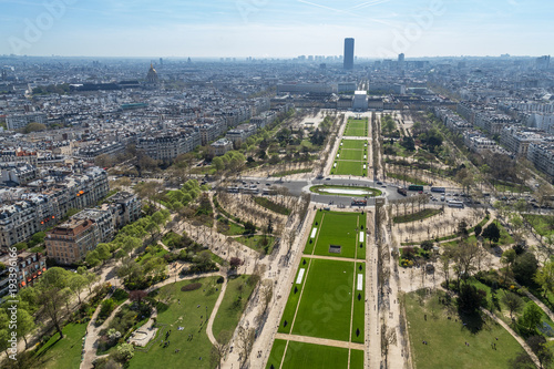 Poster Parijs Beautiful panoramic view of Paris from the Eiffel Tower