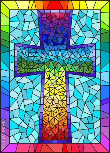 ilustracja-w-witrazu-styl-malowania-na-tematy-religijne-witraze