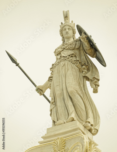 Papiers peints Athenes Athena statue, the ancinet greek goddess of wisdom and knowledge