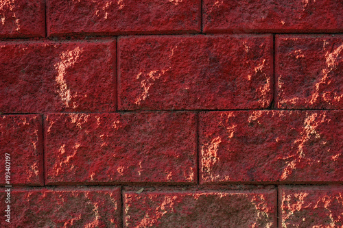 red-stone-wall-close-up