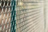 fence metal in sun - 193403103