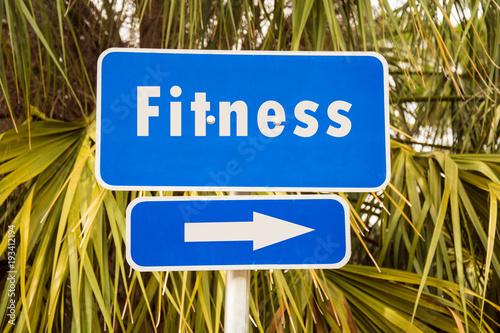 Sticker Schild 272 - Fitness