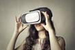 Girl experiencing virtual reality
