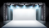 Empty stage in television studio. Vector illustration. - 193425120