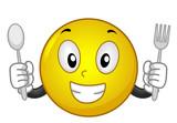 Mascot Smiley Spoon Fork Illustration - 193432147