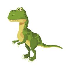 Trex dinosuar cartoon icon vector illustration graphic design © Jemastock