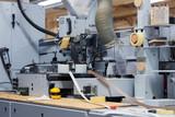veneer or edge banding machine at factory - 193438564