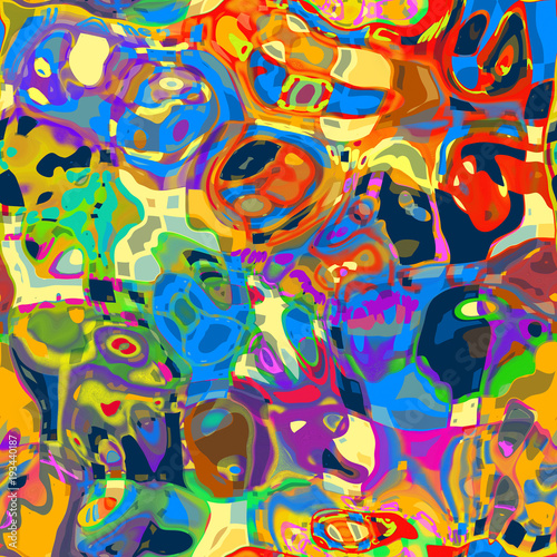 Artistic Mashed Up Abstract Background