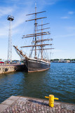 Vintage ship stands moored in Helsinki port - 193446327