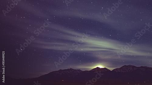 Fotobehang Aubergine Starscape