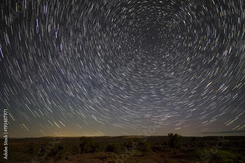 Aluminium Zwart Island in the Sky Night