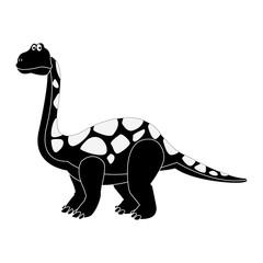 Big dinosaur cartoon icon vector illustration graphic design