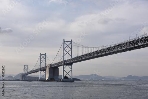Poster 日本の香川県の瀬戸大橋