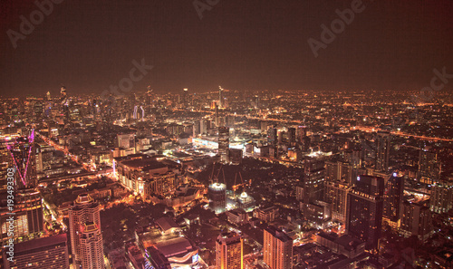 Foto op Plexiglas Bangkok bangkok city lights
