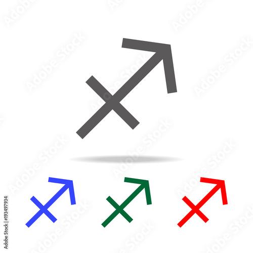 Sagittarius Zodiac Vector Sign Horoscope Symbol Astrology Line