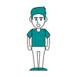 Guy face cartoon icon vector illustration graphic design
