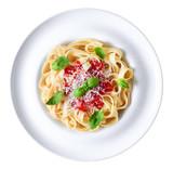 Plate  Tagliatelle Pasta    Wall Sticker