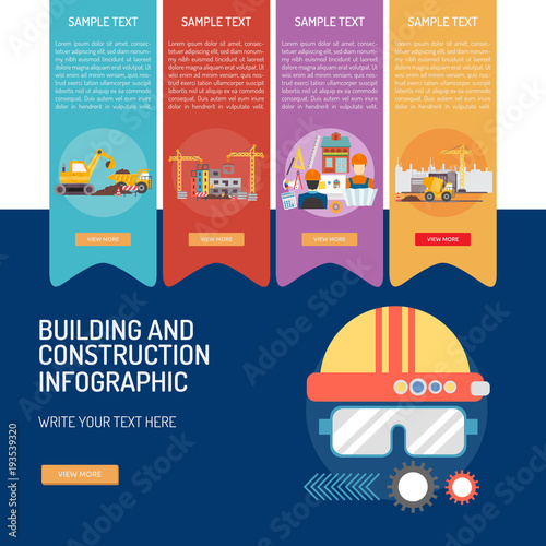 Plexiglas Auto Building and Construction Infographic