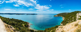 Panoramic view of Adriatic Sea near town Lopar on island Rab in Croatia - 193546987