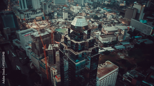 Drone view of Bangkok centre
