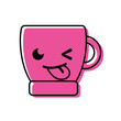 color funny coffee cup kawaii cartoon