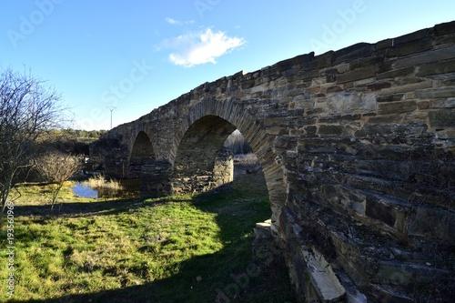 Fotobehang Zwart puente