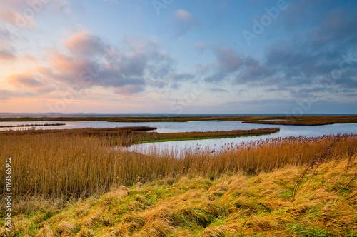 Aluminium Noordzee sunset at North Sea