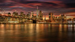 canvas print picture - new york sunset