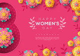 International Women day pink banner