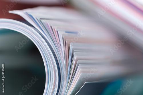 Leinwanddruck Bild magazine close up
