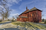 Historic wooden church in Glinianka, Masovia, Poland. - 193583157