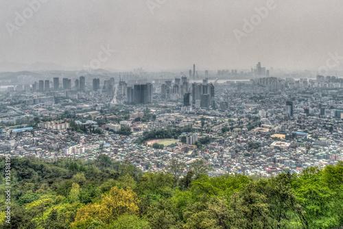 Aluminium Seoel Seoul im Morgendunst