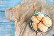 Homemade orange cookies with cracks
