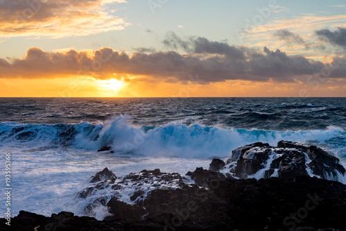 Foto op Aluminium Zee zonsondergang soleil couchant sur la mer
