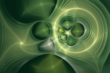 Hintergrundgrafik - Fraktale - Dunkelgrün
