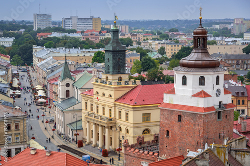Fototapety, obrazy : Architecture of the old town in Lublin, Poland