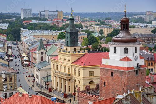 Zdjęcia na płótnie, fototapety na wymiar, obrazy na ścianę : Architecture of the old town in Lublin, Poland