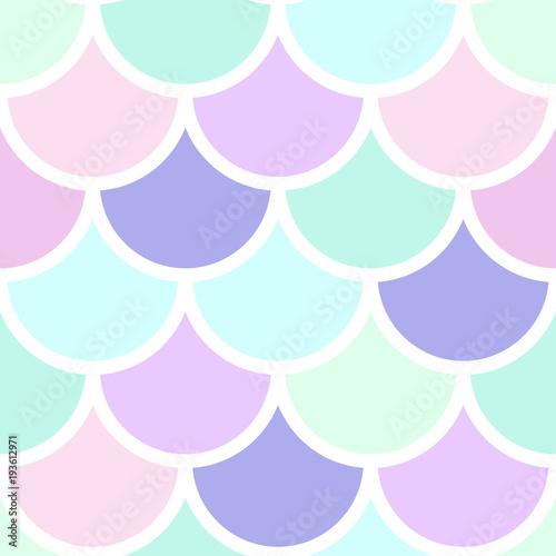 Cotton fabric Mermeid scales vector seamless pattern