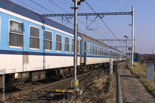 Foto op Plexiglas Spoorlijn railways in the spring landscape