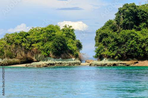 Deurstickers Tropical strand Pearl Islands, contadora , Panamá