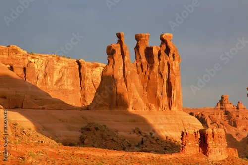 Aluminium Oranje eclat Arches National Park in the early morning light