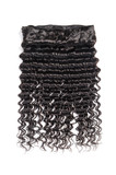 virgin remy deep wave curly black human hair weaves extensions  - 193642348
