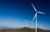 Power turbine wind mills on rolling hills - 193650175