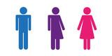 piktogramm drei geschlechter sexuelle identität - 193651520