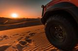 4x4 vehicle, desert and sunset - 193652109