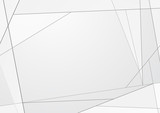 Grey geometrical crystal triangular background template